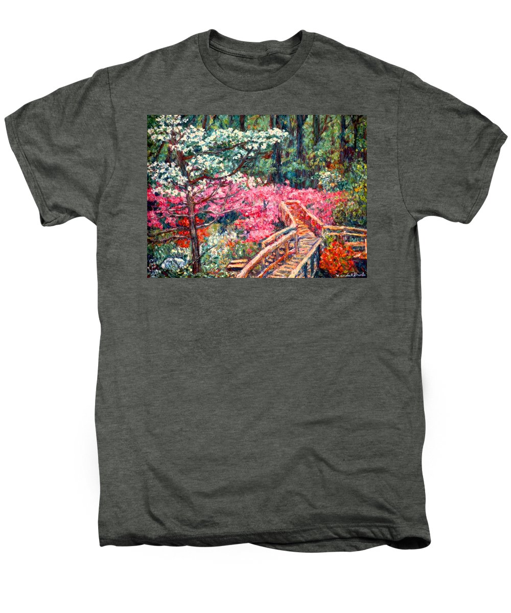 Garden Men's Premium T-Shirt featuring the painting Roanoke Beauty by Kendall Kessler