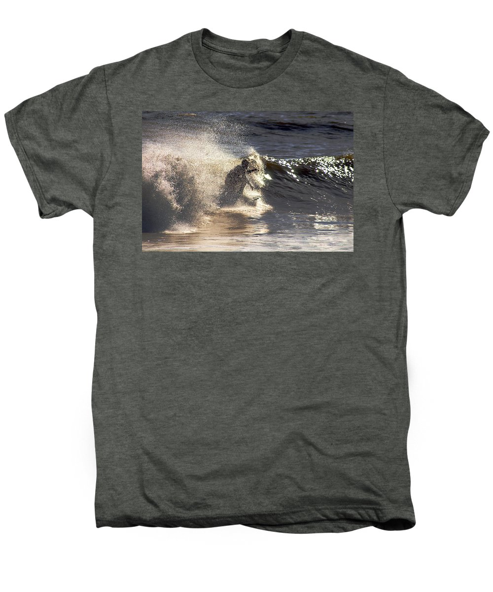 Clay Men's Premium T-Shirt featuring the photograph Salt Spray Surfing by Clayton Bruster