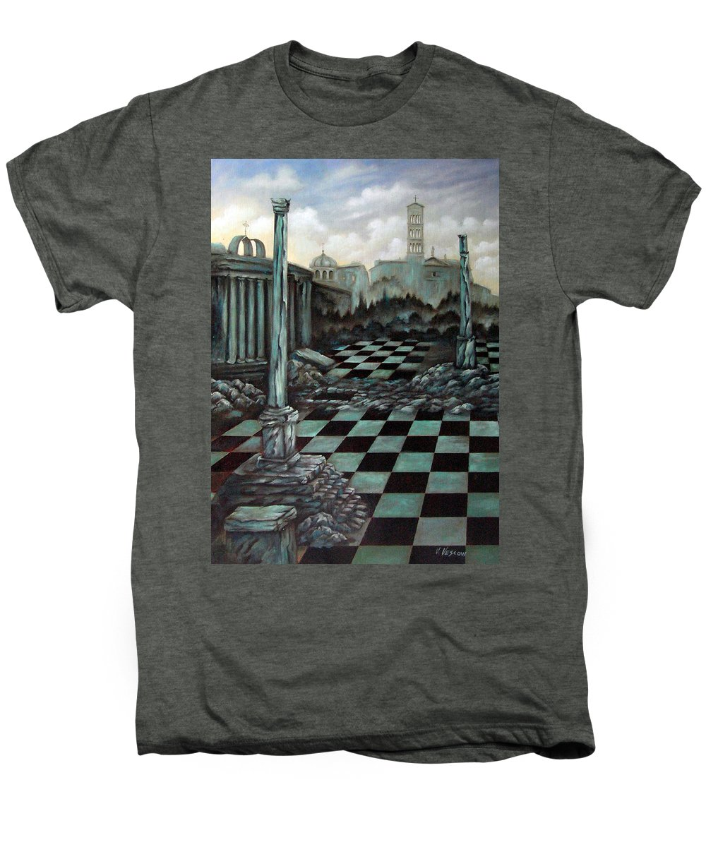 Surreal Men's Premium T-Shirt featuring the painting Sepulchre by Valerie Vescovi