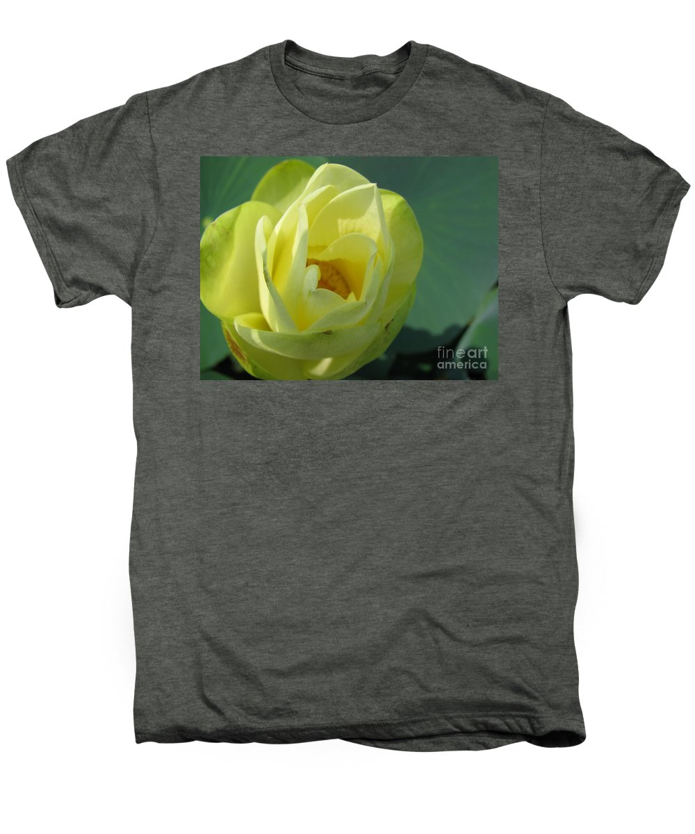 Lotus Men's Premium T-Shirt featuring the photograph Softly by Amanda Barcon