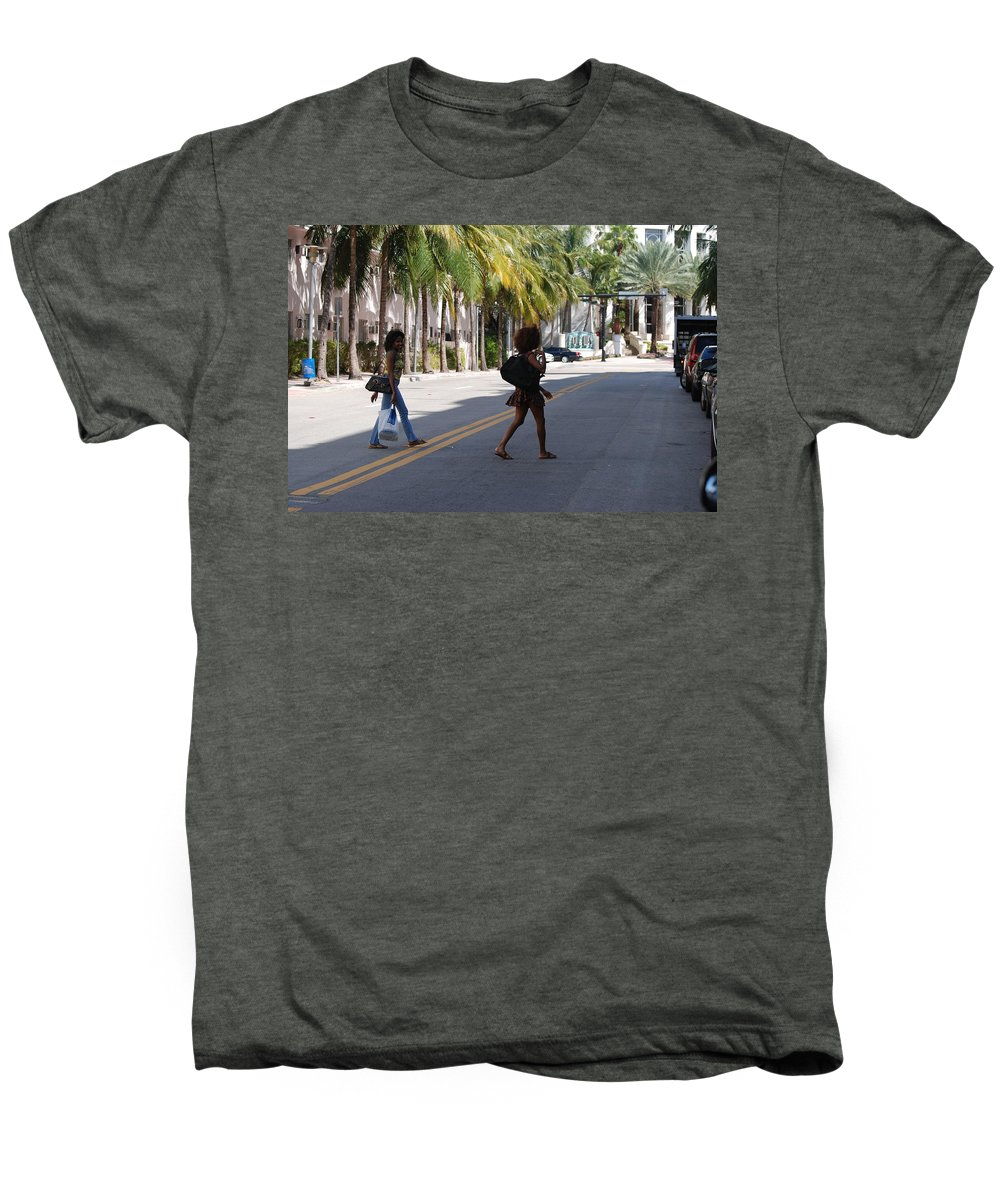 Girls Men's Premium T-Shirt featuring the photograph Street Walkers by Rob Hans