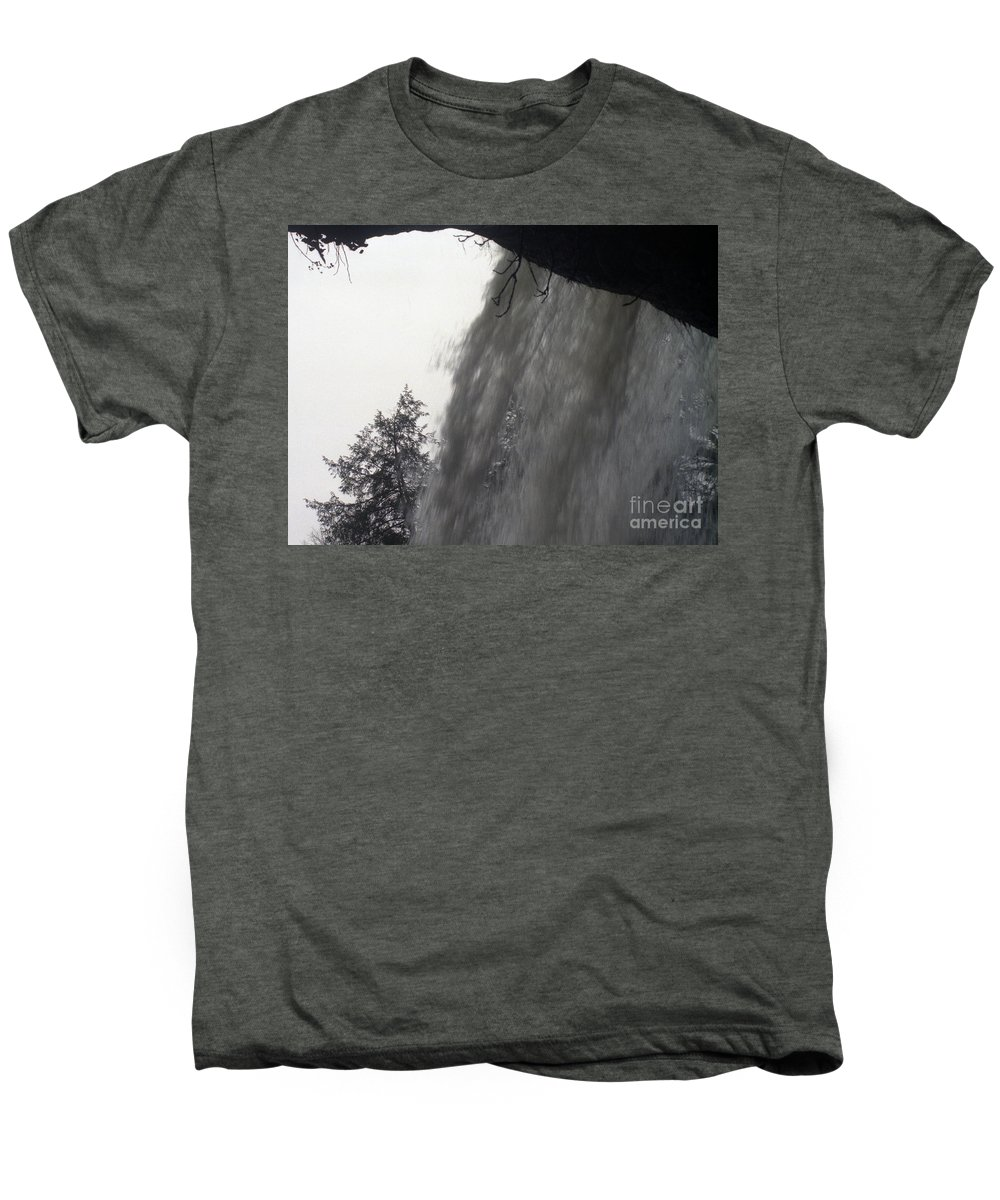 Waterfalls Men's Premium T-Shirt featuring the photograph The Falls by Richard Rizzo