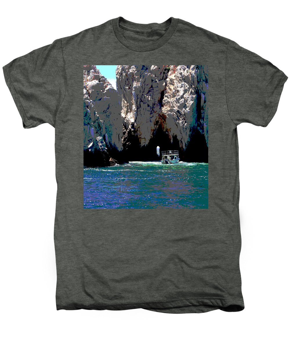 Mexico Men's Premium T-Shirt featuring the photograph The Keyhole Mexico Cabo San Lucas by Heather Coen