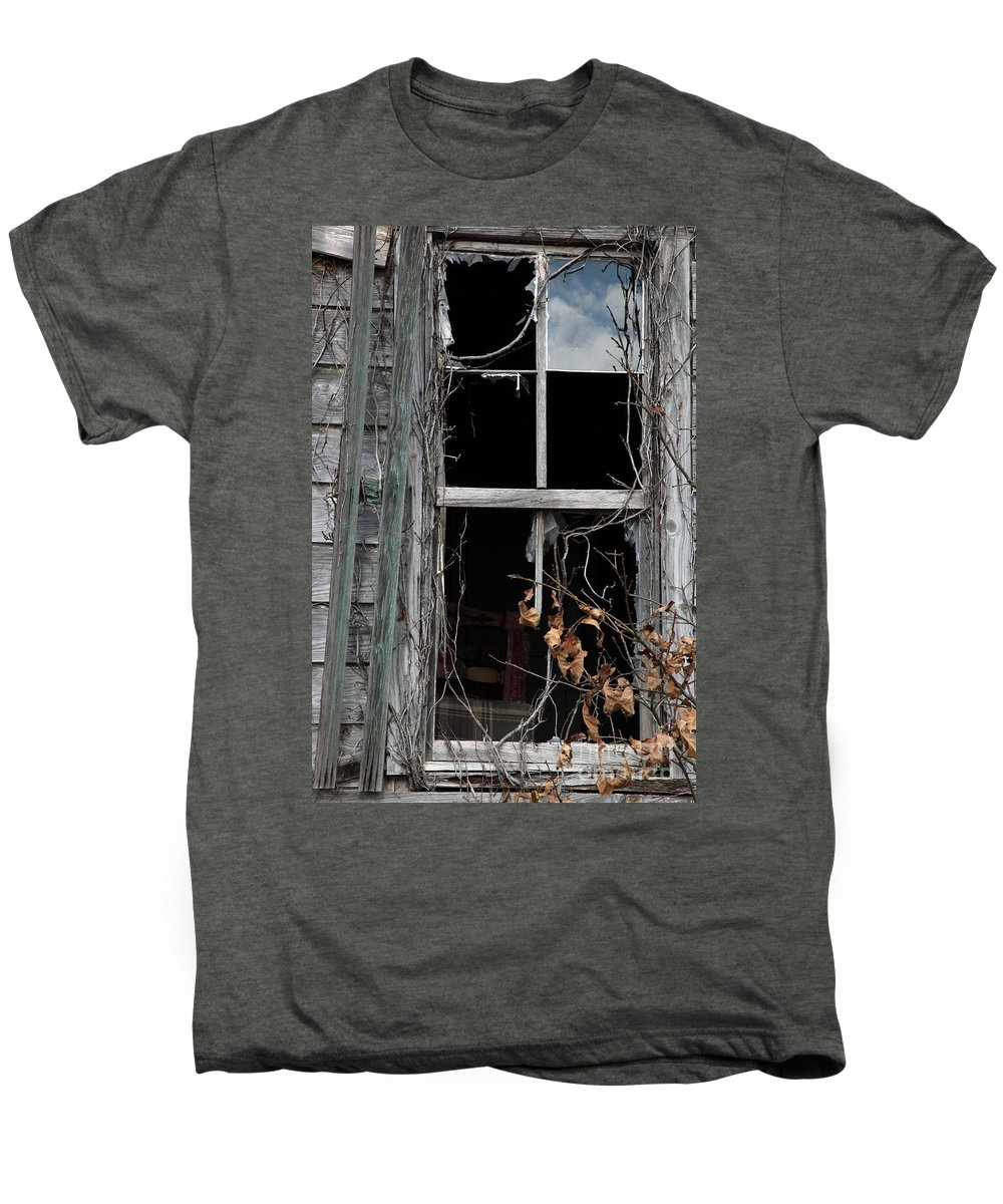 Windows Men's Premium T-Shirt featuring the photograph The Window by Amanda Barcon