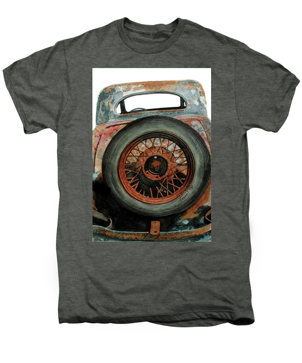 Car Men's Premium T-Shirt featuring the painting Tired by Ferrel Cordle