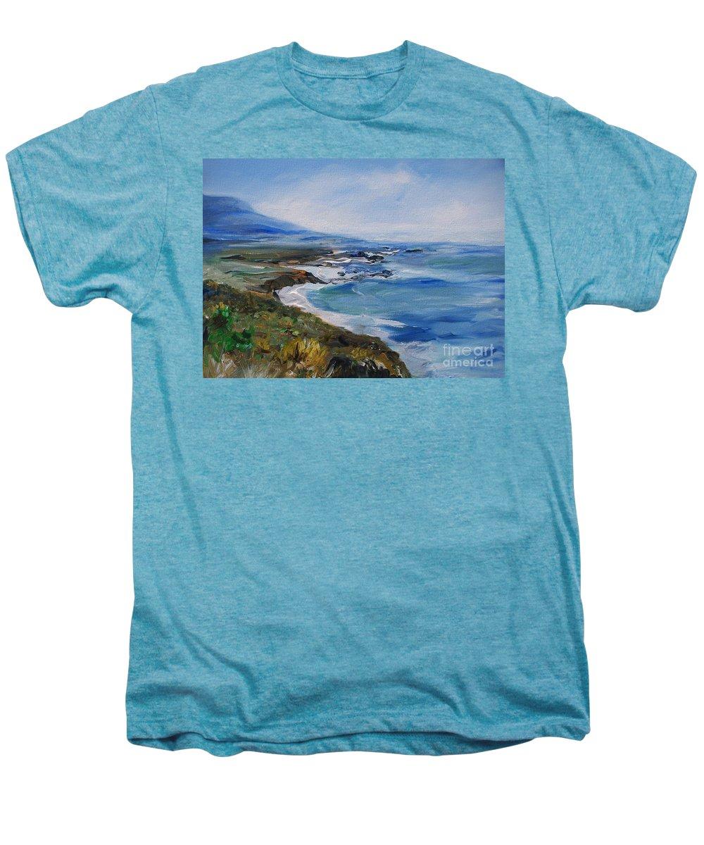 California Coast Men's Premium T-Shirt featuring the painting Big Sur Coastline by Eric Schiabor
