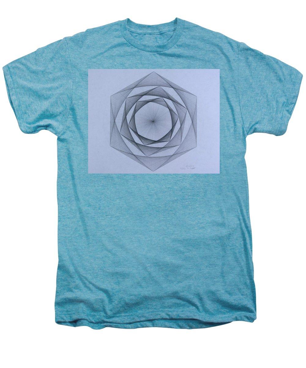 Jason Padgett Men's Premium T-Shirt featuring the drawing  Energy Spiral by Jason Padgett