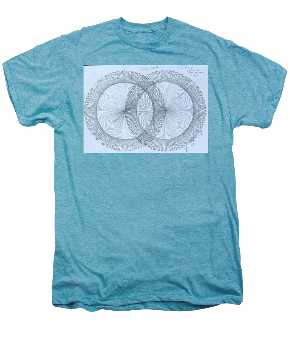 Fractal Men's Premium T-Shirt featuring the drawing Magnetism by Jason Padgett