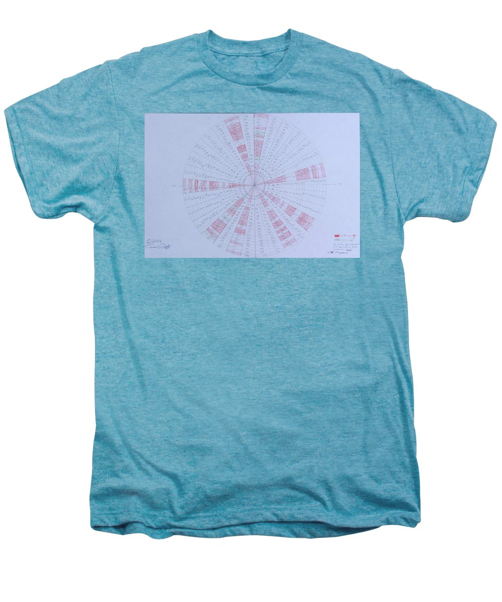 Prime Men's Premium T-Shirt featuring the drawing Prime Number Pattern P Mod 30 by Jason Padgett