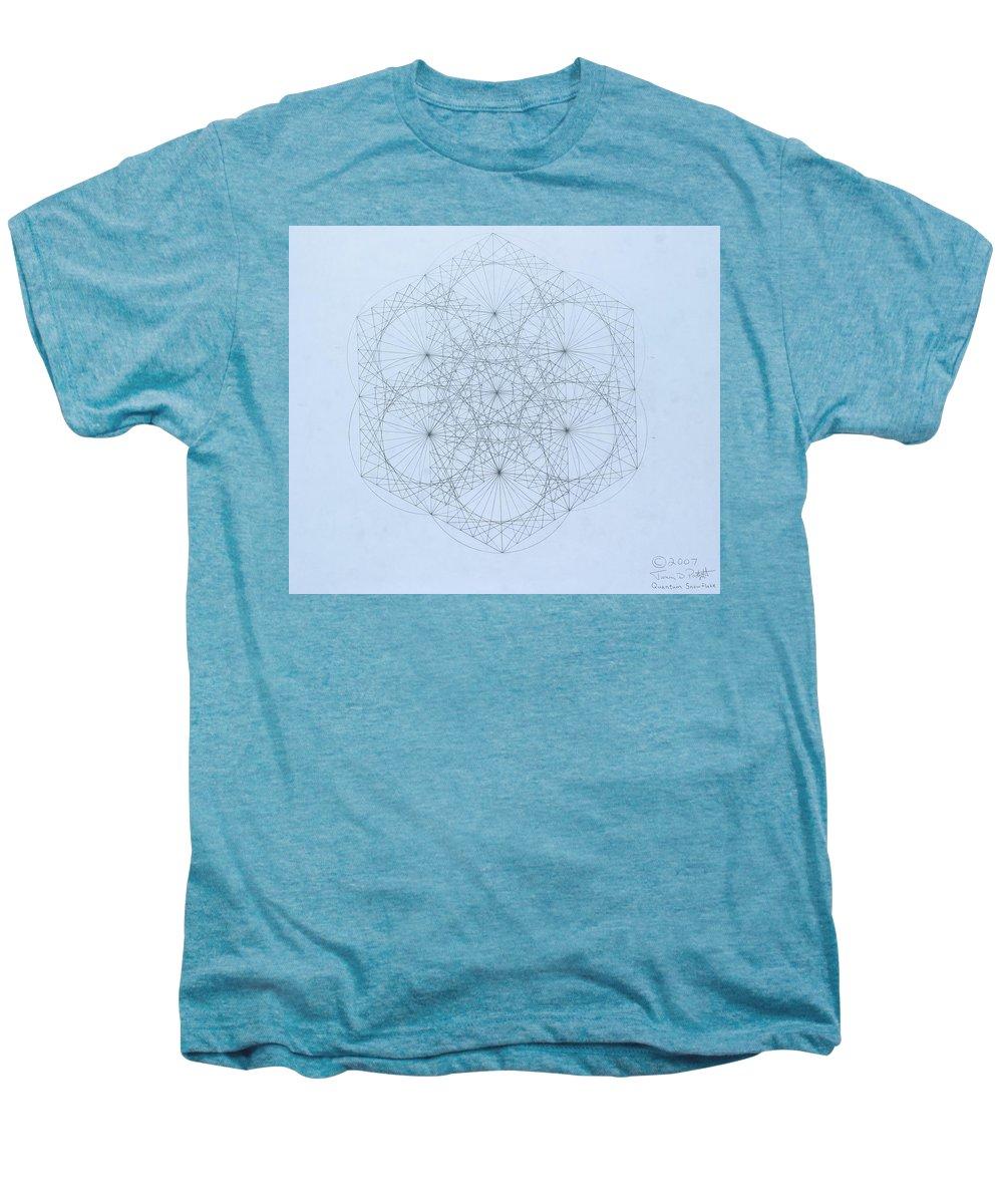 Jason Padgett Men's Premium T-Shirt featuring the drawing Quantum Snowflake by Jason Padgett