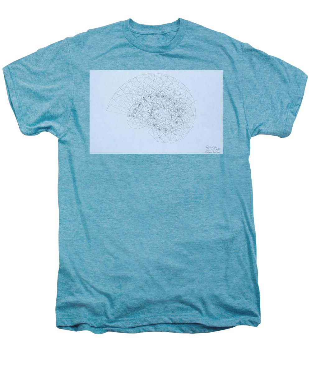 Jason Padgett Men's Premium T-Shirt featuring the drawing Quantum Nautilus by Jason Padgett
