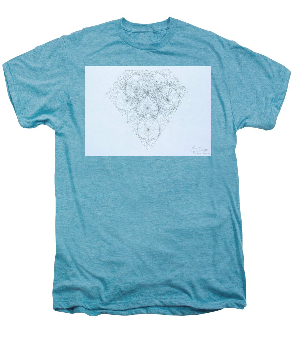Jason Padgett Men's Premium T-Shirt featuring the drawing Diamond Quanta by Jason Padgett