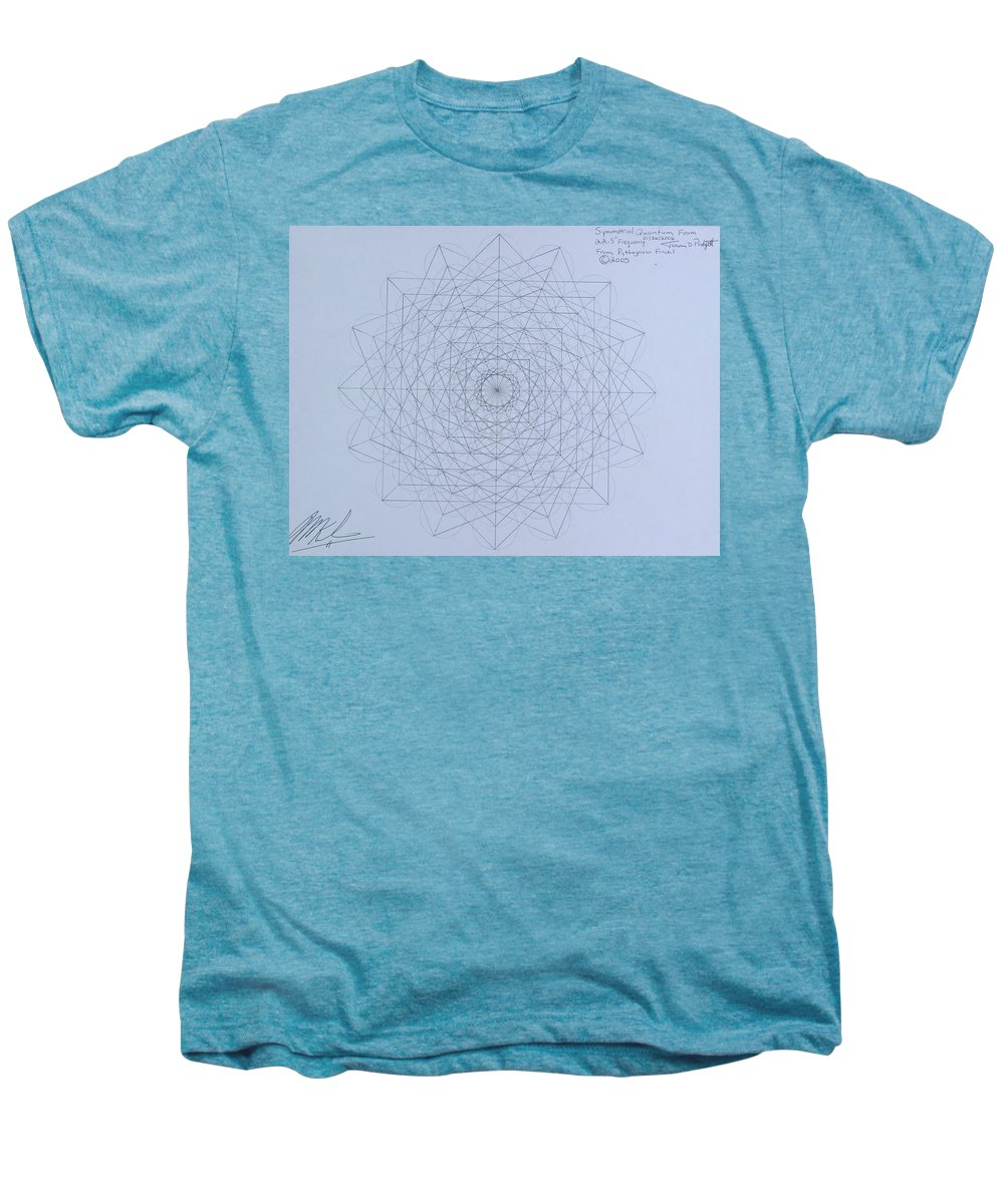 Jason Men's Premium T-Shirt featuring the drawing Quantum Foam by Jason Padgett
