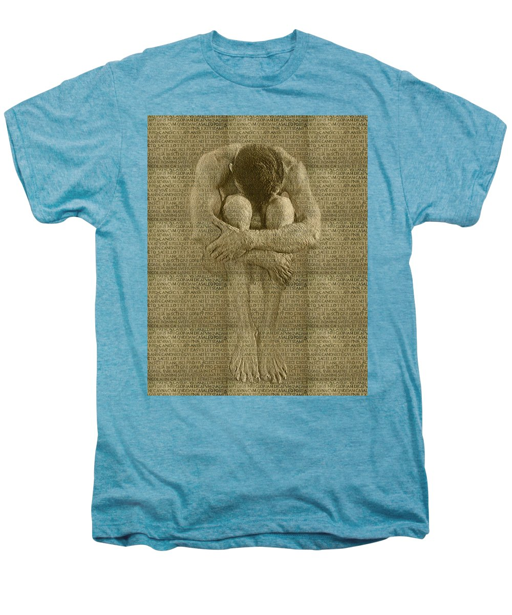 Nudes Men's Premium T-Shirt featuring the photograph The Artist by Kurt Van Wagner