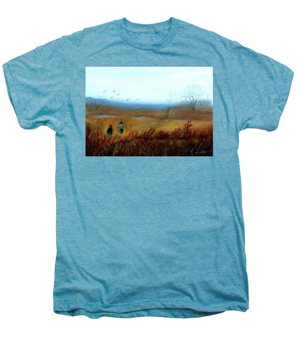 Figures Men's Premium T-Shirt featuring the painting A Winter Walk by Gail Kirtz