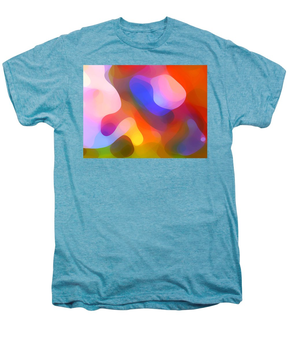 Abstract Art Men's Premium T-Shirt featuring the painting Abstract Dappled Sunlight by Amy Vangsgard