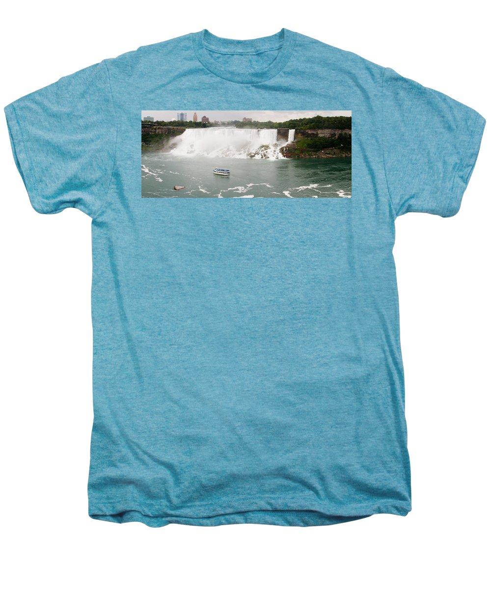 3scape Men's Premium T-Shirt featuring the photograph American Falls by Adam Romanowicz