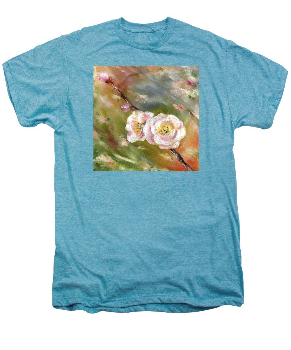 Flower Men's Premium T-Shirt featuring the painting Anniversary by Hiroko Sakai
