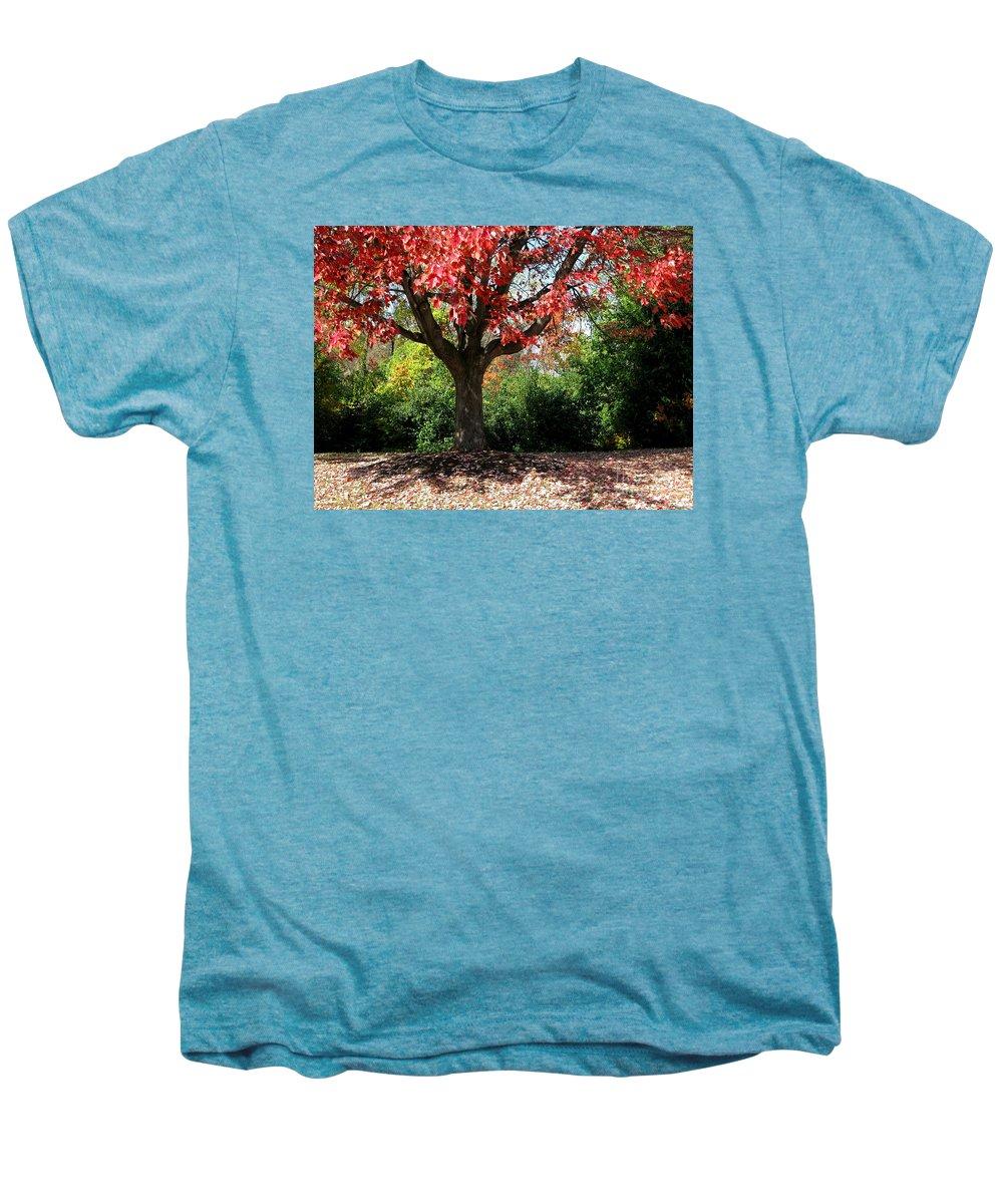 Autumn Men's Premium T-Shirt featuring the photograph Autumn Ablaze by Ann Horn