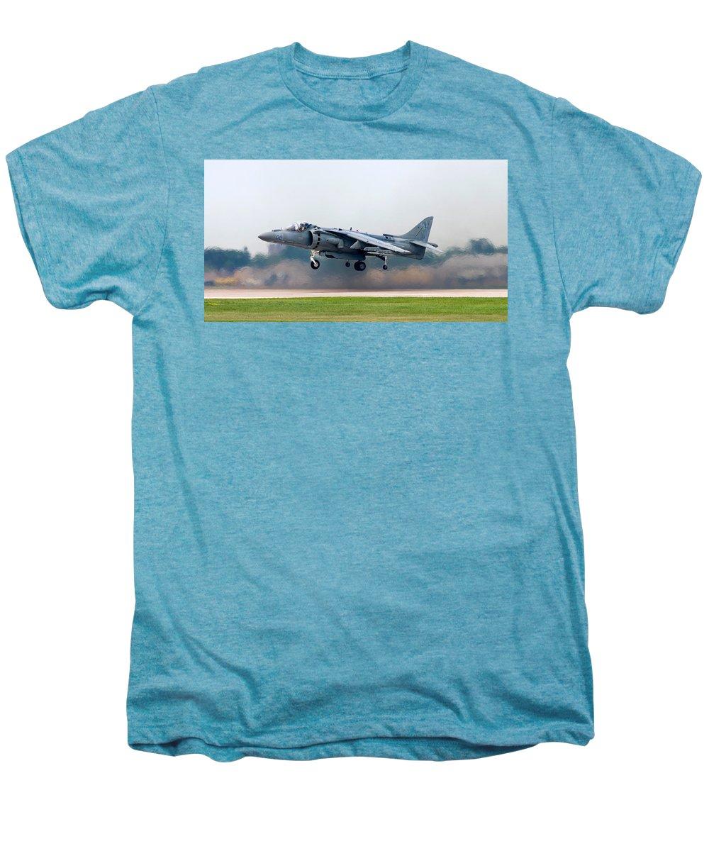 3scape Photos Men's Premium T-Shirt featuring the photograph Av-8b Harrier by Adam Romanowicz