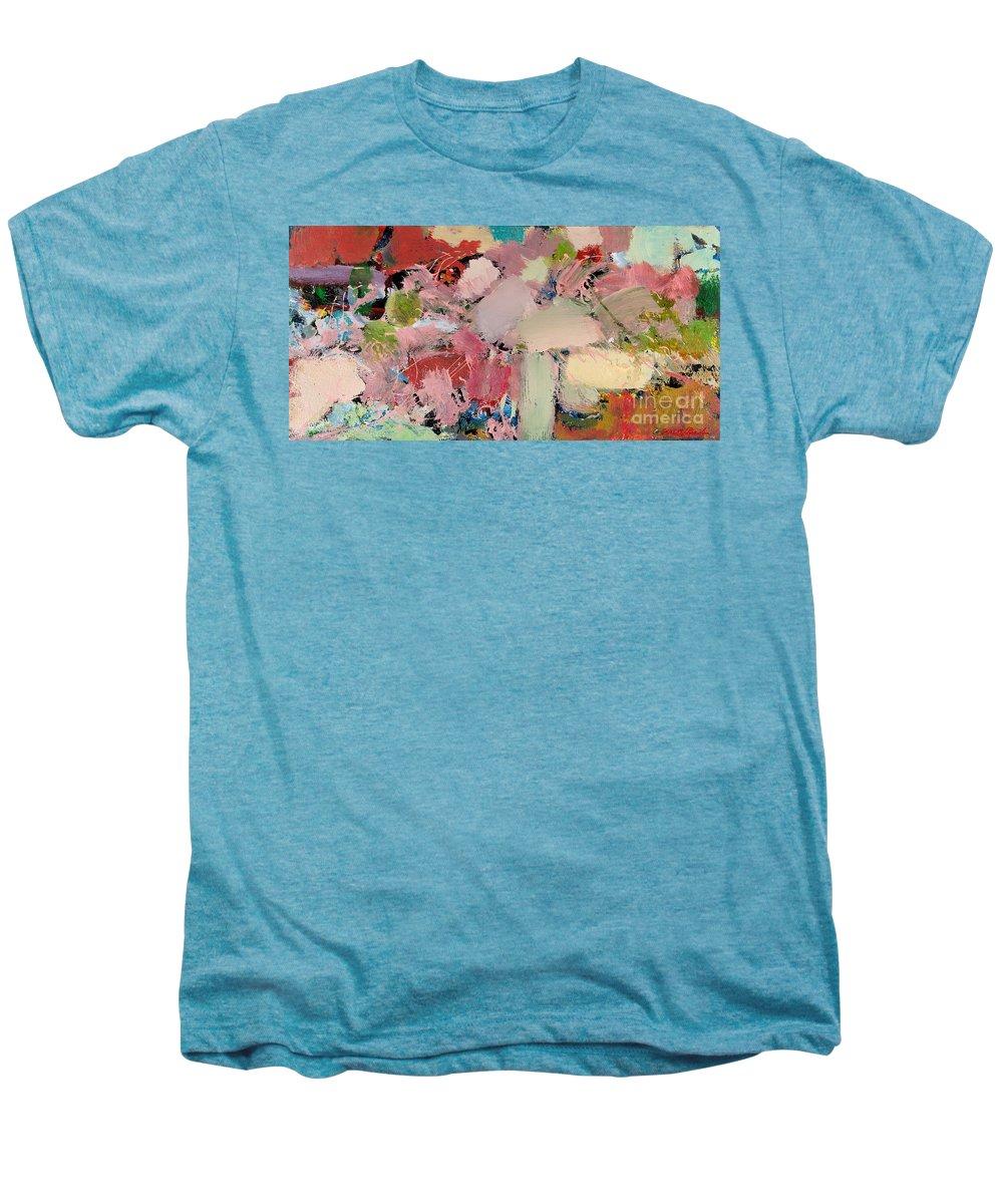 Landscape Men's Premium T-Shirt featuring the painting Azaleas by Allan P Friedlander