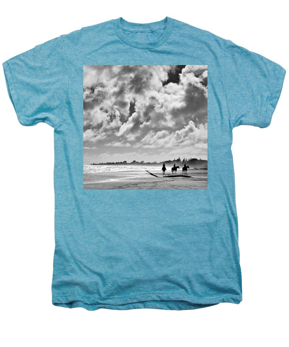 Ride Men's Premium T-Shirt featuring the photograph Beach Riders by Dave Bowman