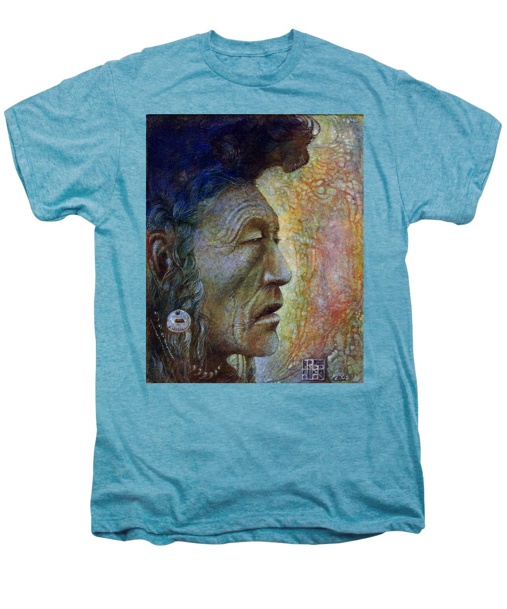 Bear Bull Men's Premium T-Shirt featuring the painting Bear Bull Shaman by Otto Rapp