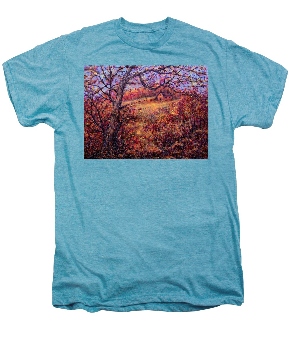 Autumn Men's Premium T-Shirt featuring the painting Beautiful Autumn by Natalie Holland
