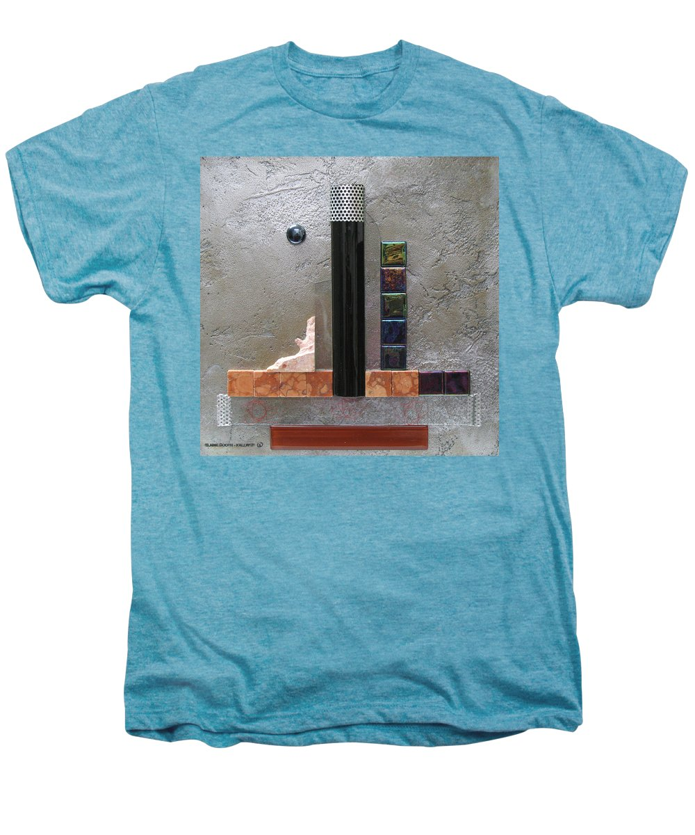 Assemblage Men's Premium T-Shirt featuring the relief Black Tower by Elaine Booth-Kallweit
