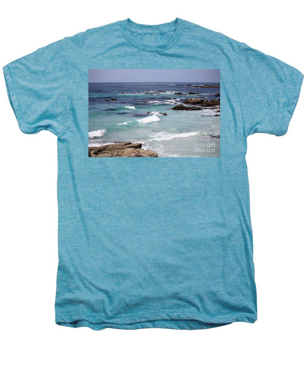Blue Surf Men's Premium T-Shirt featuring the photograph Blue Surf by Carol Groenen