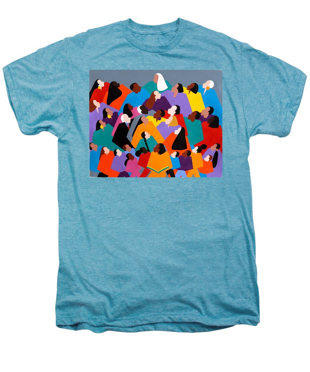Figurative Men's Premium T-Shirt featuring the painting Brilliance by Synthia SAINT JAMES