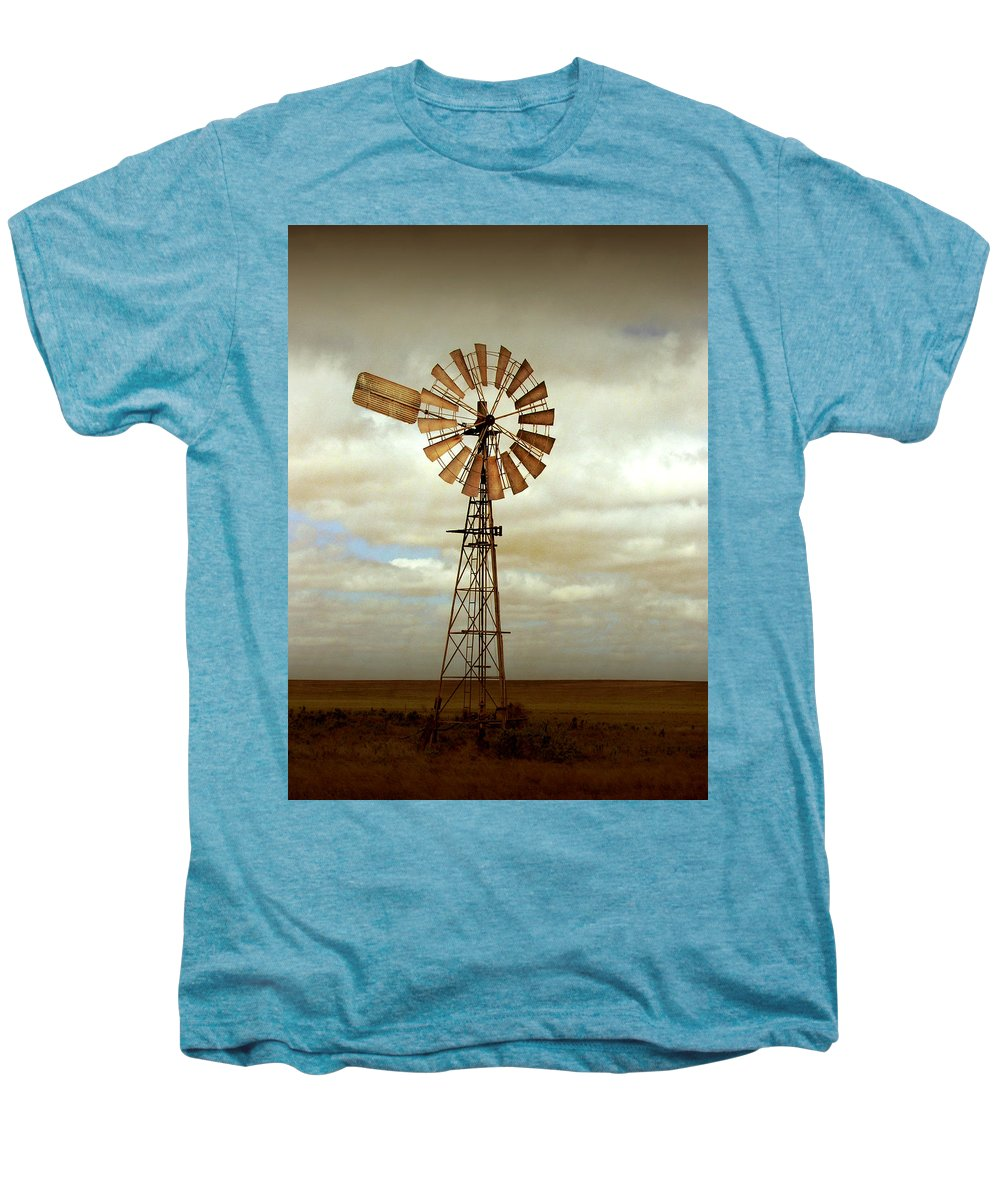 Windmill Men's Premium T-Shirt featuring the photograph Catch The Wind by Holly Kempe