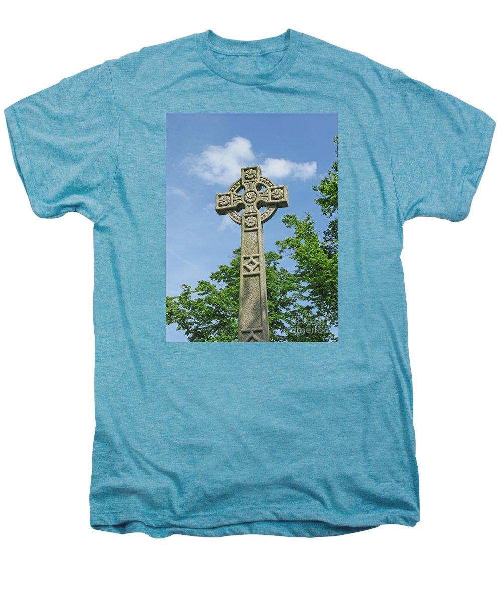 Cross Men's Premium T-Shirt featuring the photograph Celtic Cross by Ann Horn