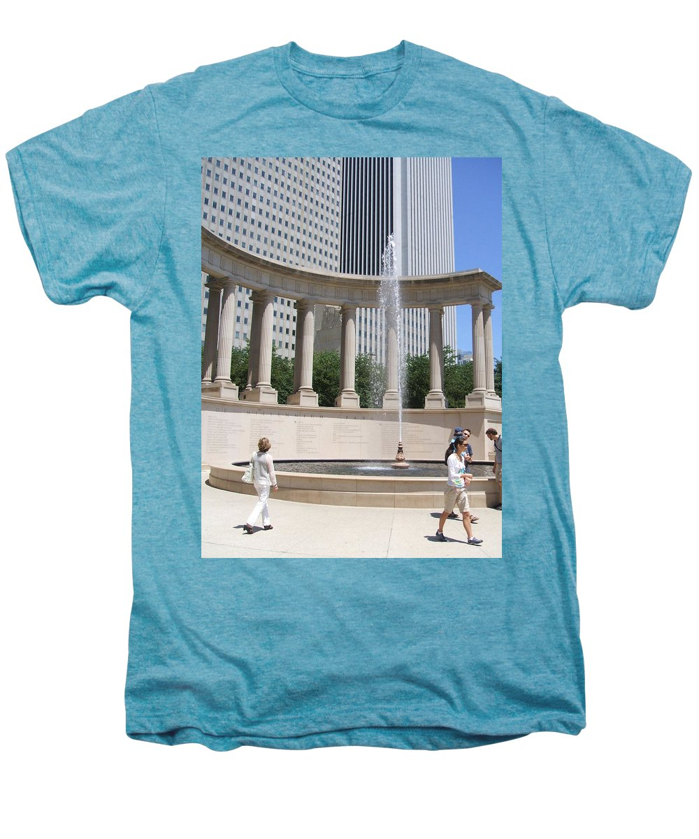Chicago Men's Premium T-Shirt featuring the photograph Chicago Tourism by Minding My Visions by Adri and Ray