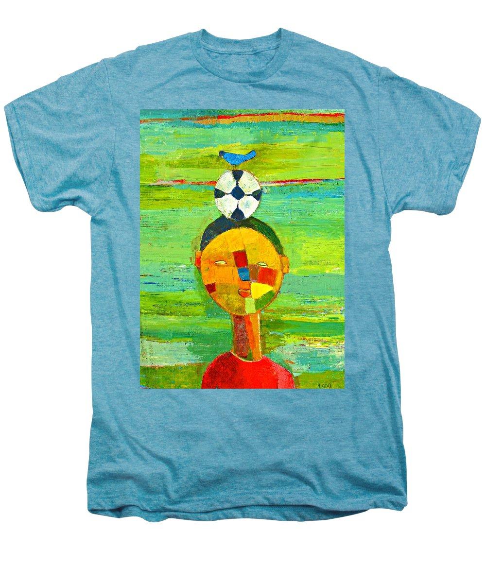 Childhood Men's Premium T-Shirt featuring the painting Childhood Memories by Habib Ayat