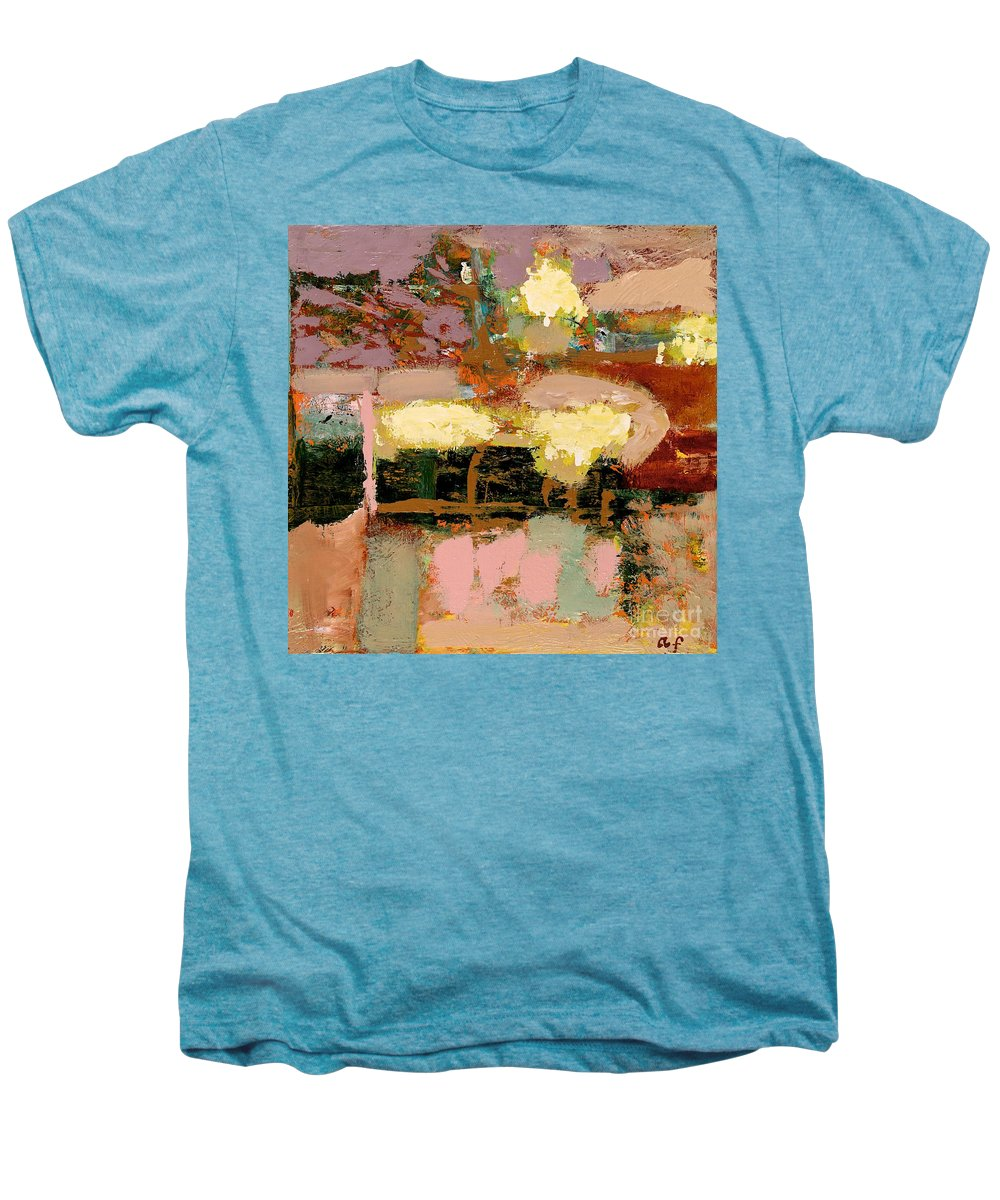 Landscape Men's Premium T-Shirt featuring the painting Chopped Liver by Allan P Friedlander