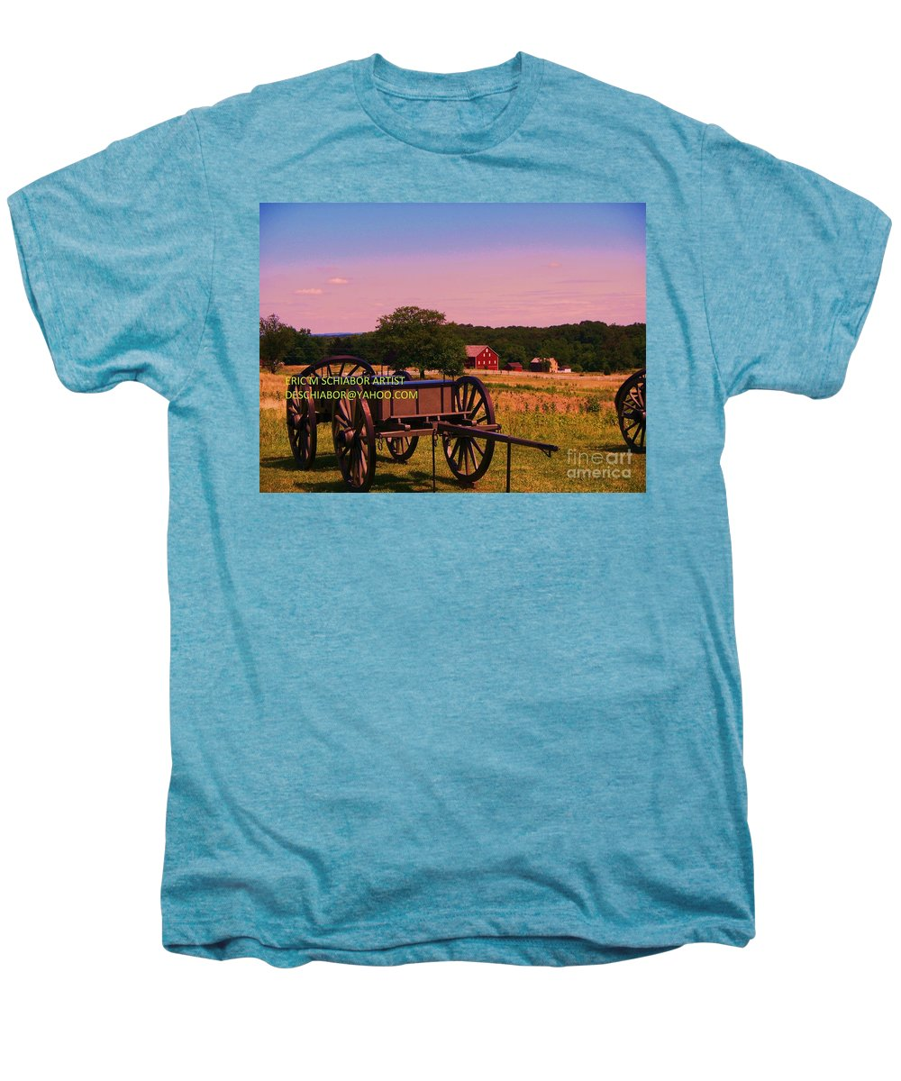 Civil War Men's Premium T-Shirt featuring the photograph Civil War Caisson At Gettysburg by Eric Schiabor