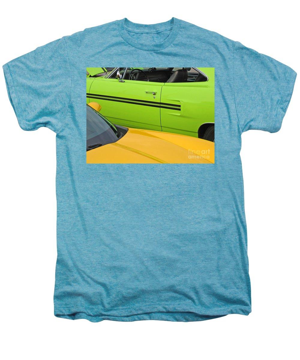 Car Men's Premium T-Shirt featuring the photograph Classy Classics by Ann Horn