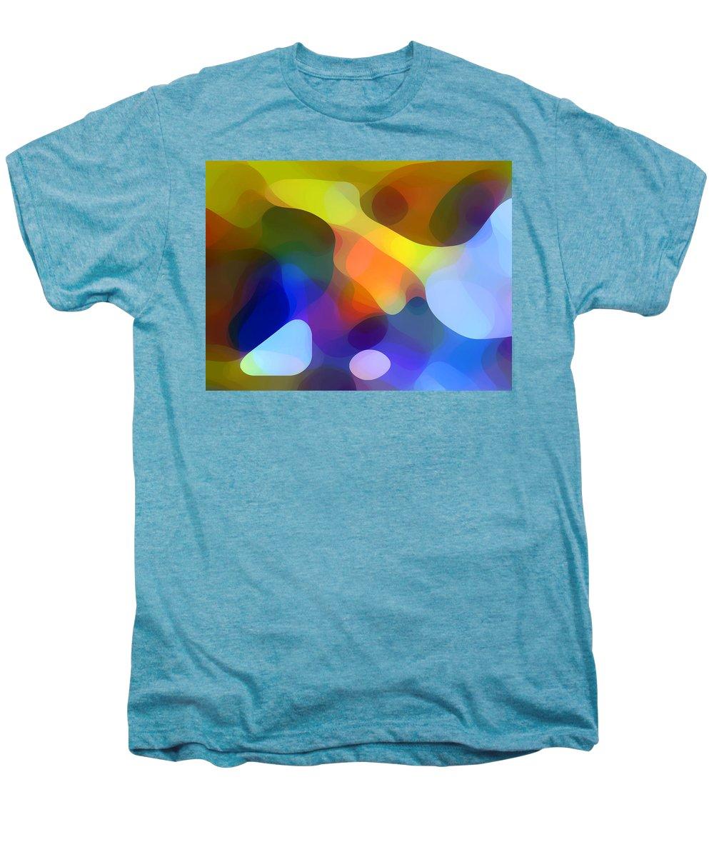 Bold Men's Premium T-Shirt featuring the painting Cool Dappled Light by Amy Vangsgard