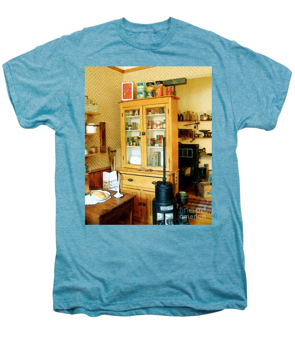 Antiques Men's Premium T-Shirt featuring the painting Country Kitchen Sunshine IIi by RC deWinter