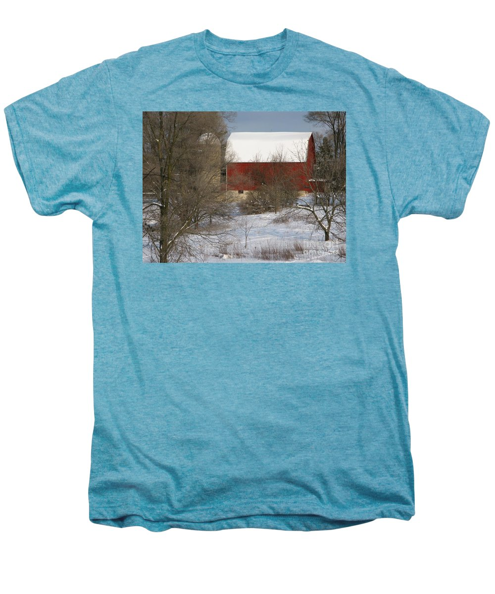 Winter Men's Premium T-Shirt featuring the photograph Country Winter by Ann Horn