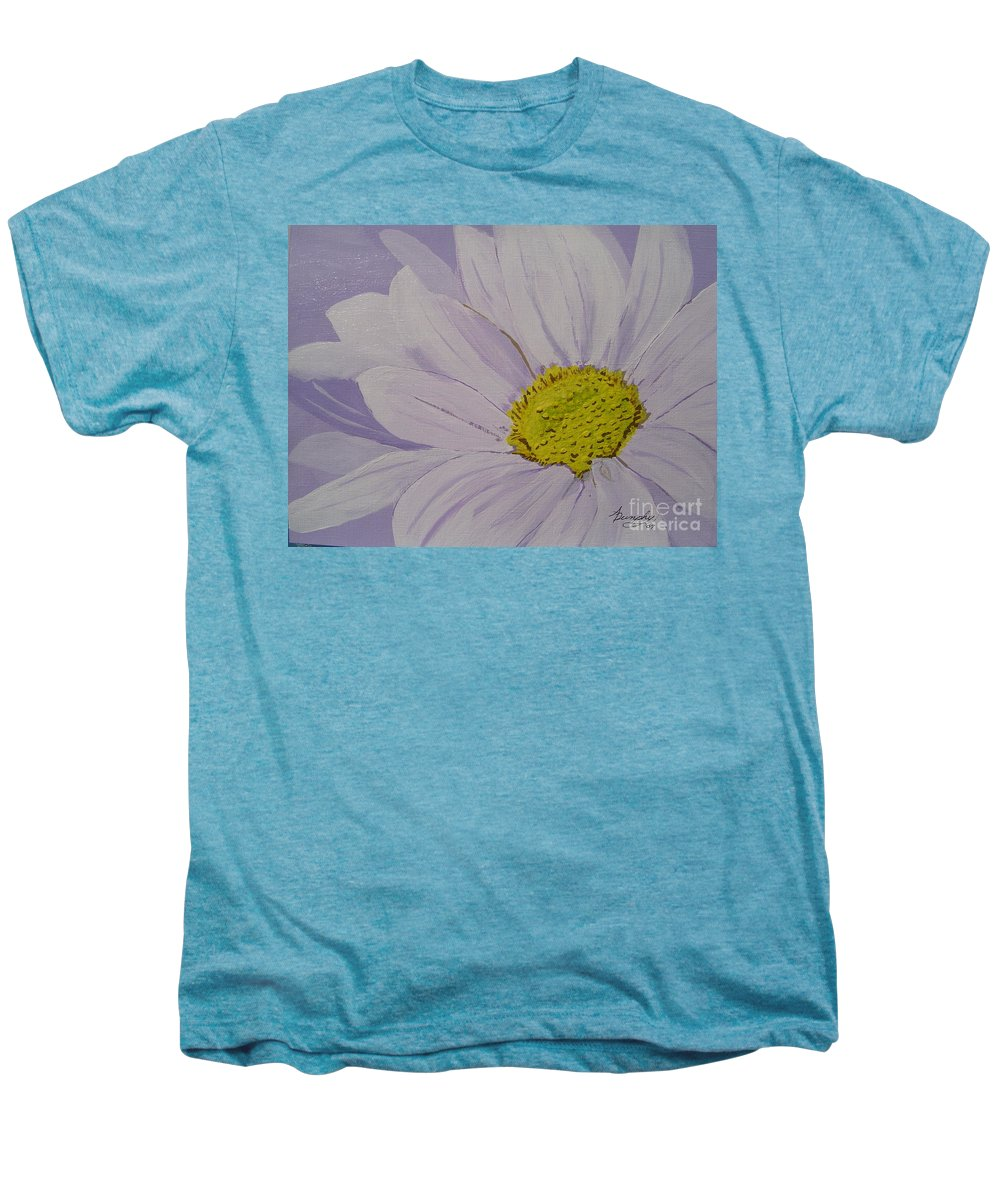 Daisy Men's Premium T-Shirt featuring the painting Daisy by Anthony Dunphy