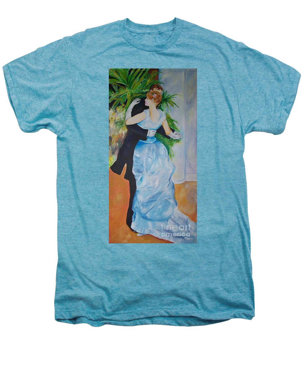 Lavender Men's Premium T-Shirt featuring the painting Dance In The City by Eric Schiabor