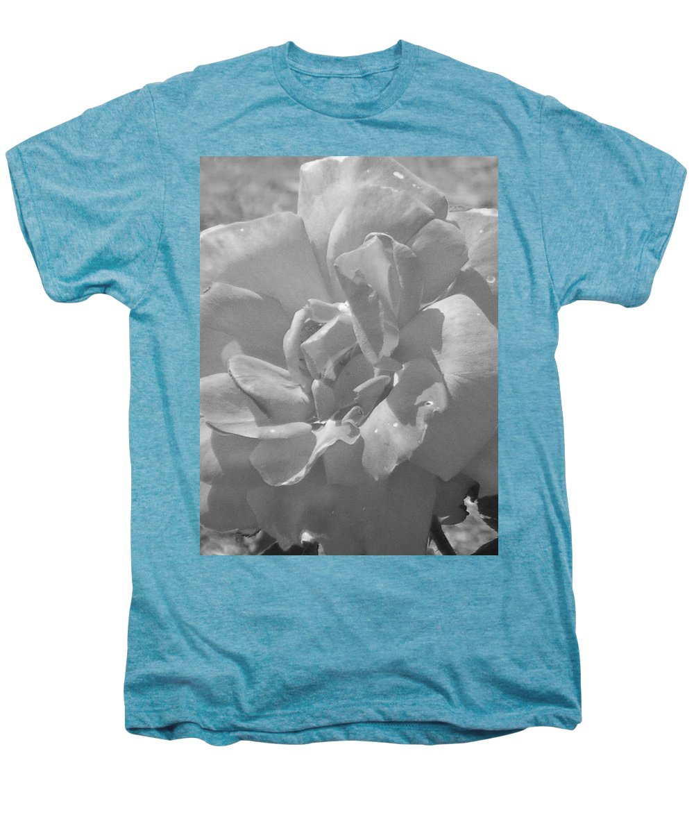 Rose Men's Premium T-Shirt featuring the photograph Dew Rose by Pharris Art