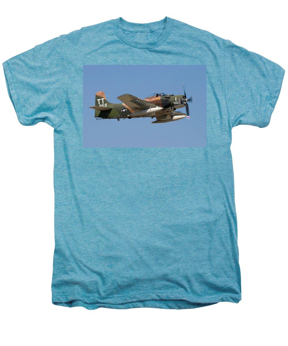 3scape Photos Men's Premium T-Shirt featuring the photograph Douglas Ad-4 Skyraider by Adam Romanowicz