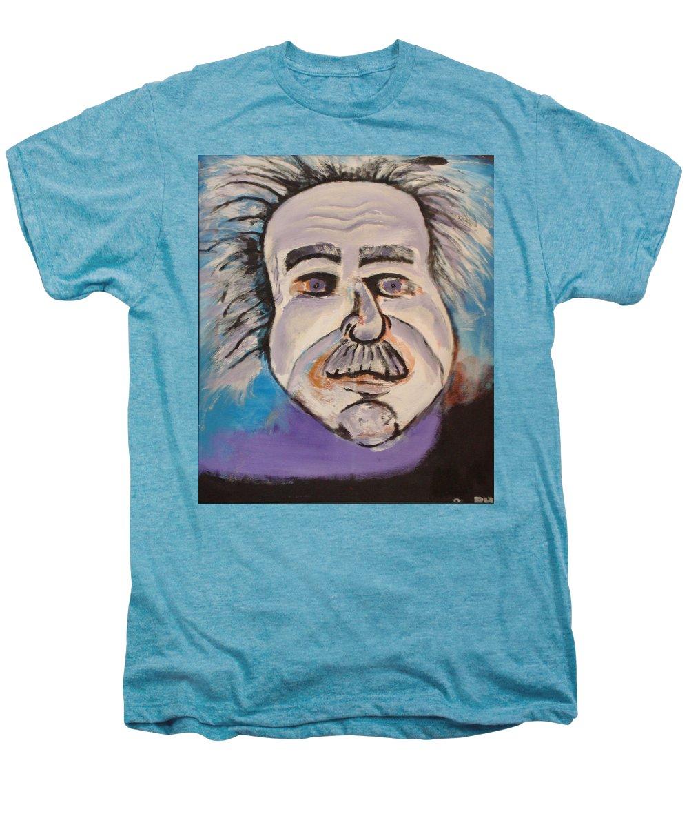 Rick Huotari Men's Premium T-Shirt featuring the painting Einstein by Rick Huotari