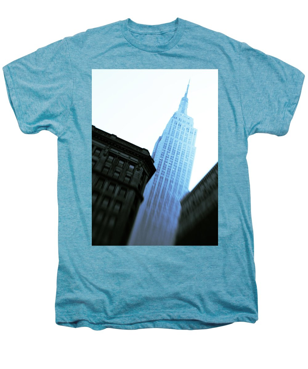 Empire State Building Men's Premium T-Shirt featuring the photograph Empire State Building by Dave Bowman