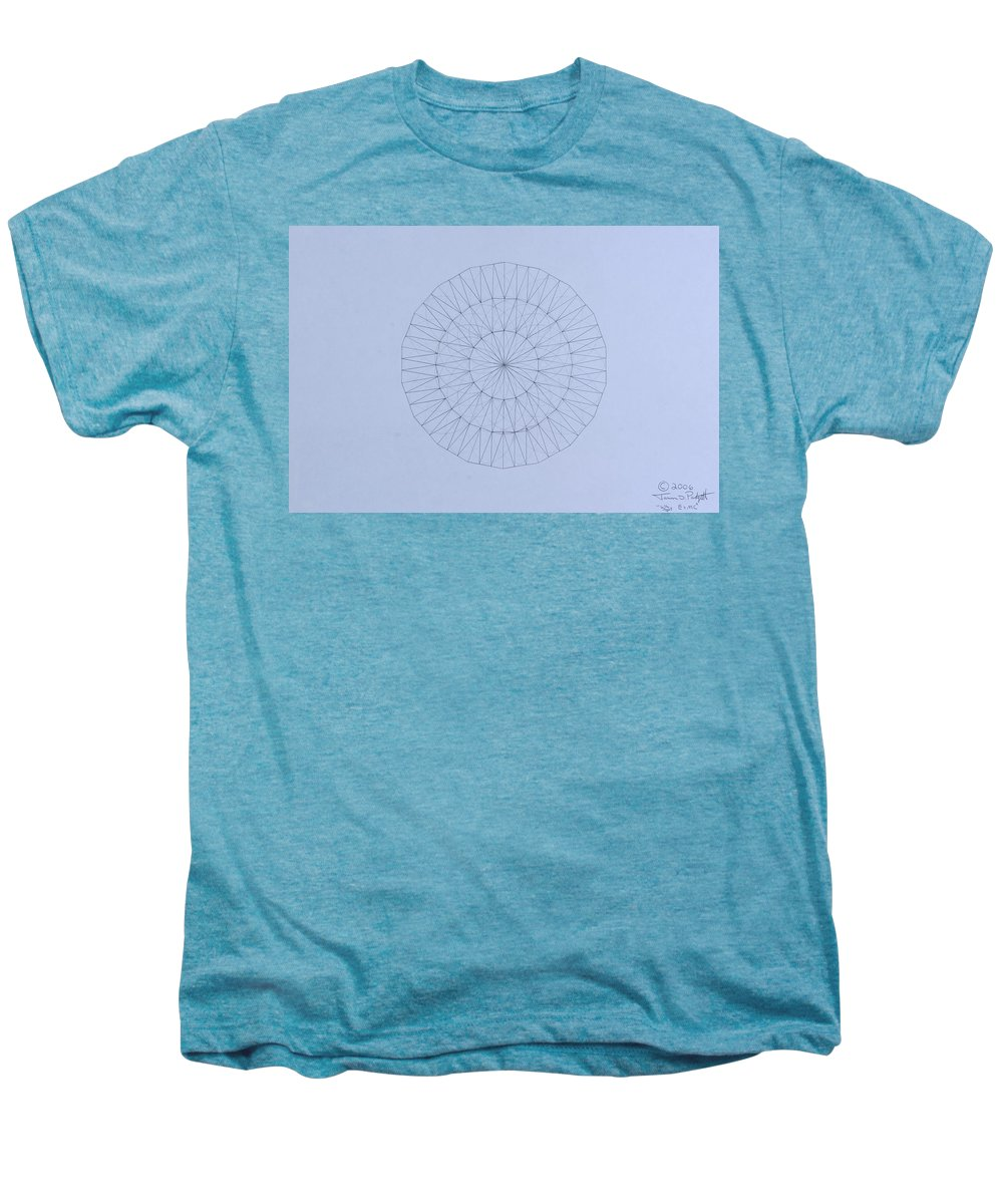 Jason Padgett Men's Premium T-Shirt featuring the drawing Energy Wave 20 Degree Frequency by Jason Padgett