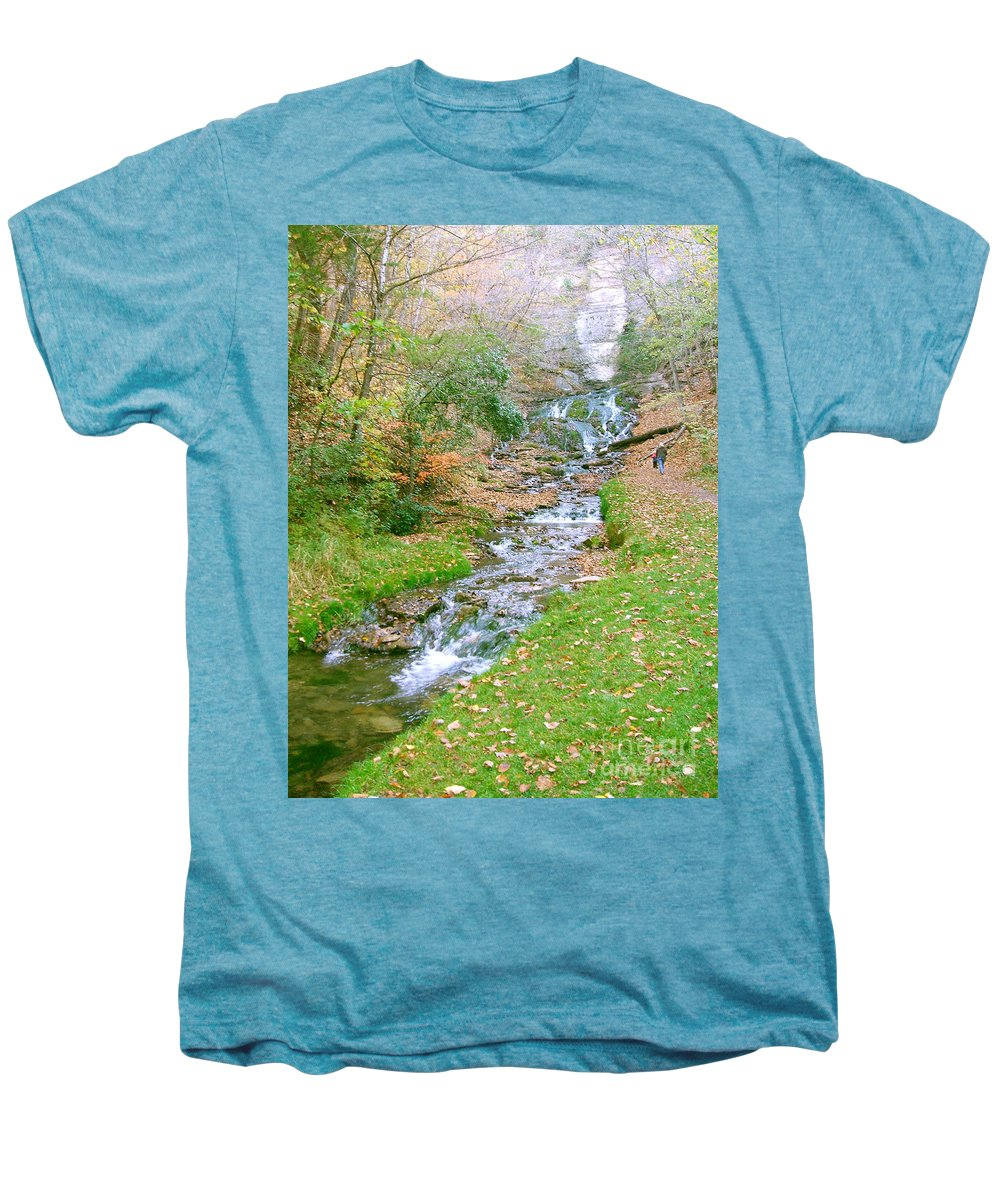Springs Men's Premium T-Shirt featuring the photograph Fall Springs by Minding My Visions by Adri and Ray