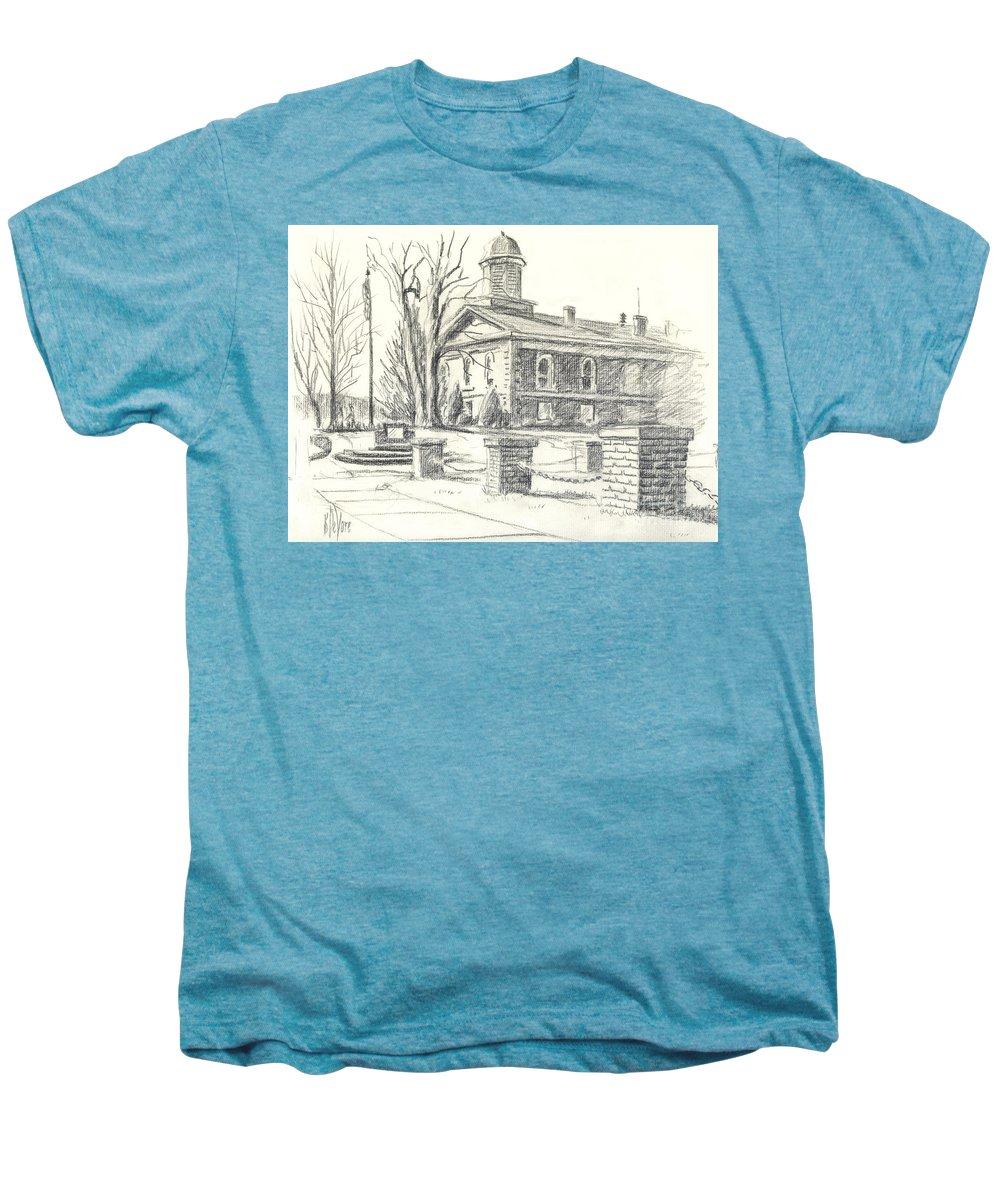 February Morning No Ctc102 Men's Premium T-Shirt featuring the drawing February Morning No Ctc102 by Kip DeVore